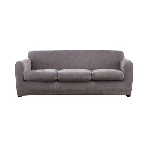 Sure Fit Ultimate Stretch Chenille Individual Box 3 Cushion Sofa Slipcover