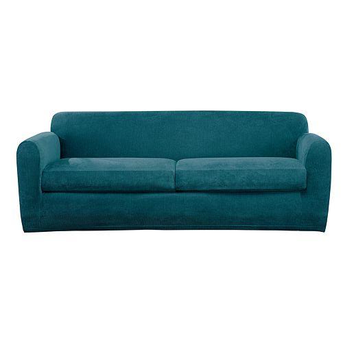 Sure Fit Ultimate Stretch Chenille Individual Box 2 Cushion Sofa Slipcover