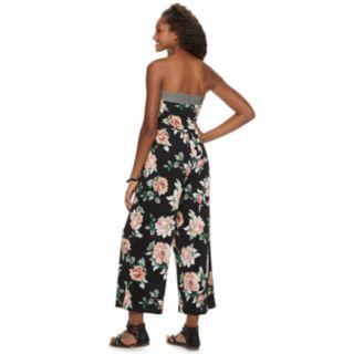 Juniors' Trixxi Strapless Floral Jumpsuit