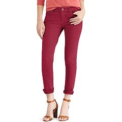 Petite Chaps Four-Way Stretch Mid-Rise Pants