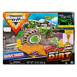 Spinmaster Monster Jam Grave Digger Kinetic Dirt Set