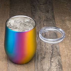 Food Network? 11-oz. Rainbow Double-Wall Stemless Wine Tumbler with Lid