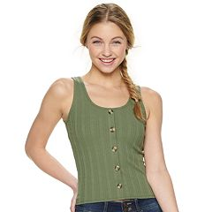 Juniors' Mudd® Button Front Tank Top