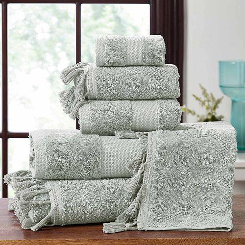 Allure Lifestyle 6-piece Tassel Border Jacquard Bath Towel Set