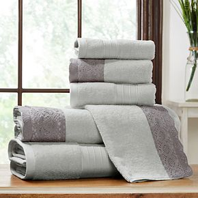 Allure Lifestyle 6-piece Lace Hem Bath Towel Set