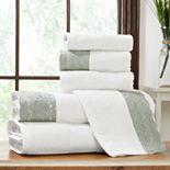 Allure Lifestyle 6-piece Lace Hem Bath Towel Set