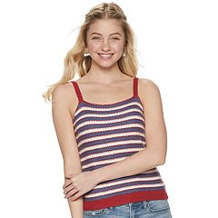fcdf5376 Juniors' It's Our Time Striped Sweater Tank