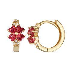 565d416f79752 Gold Plate Hoops - Earrings, Jewelry   Kohl's
