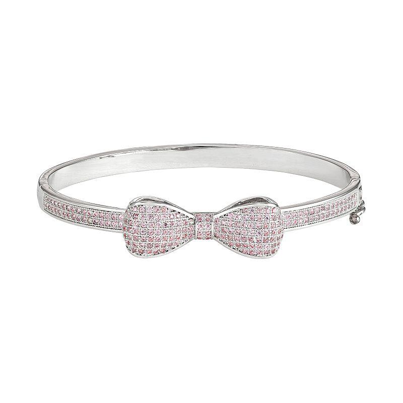 Junior Jewels Kids' Cubic Zirconia Bangle Bracelet. Girl's. White