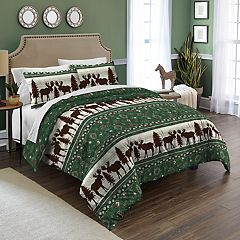 Destinations Moose Fairisle Comforter Set