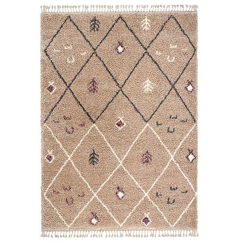 Nourison Nordic Shag Taupe Rug