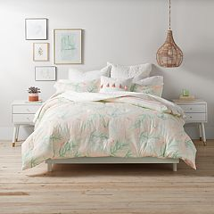 LC Lauren Conrad Cali Palm Duvet Cover Set
