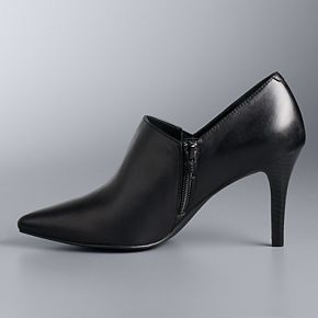 Simply Vera Vera Wang Realism Black Women's Leather High Heels