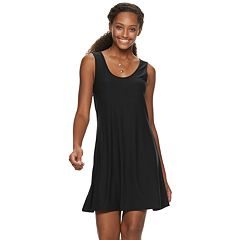 Juniors' Mudd® Bar-Back Tank Dress