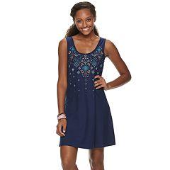 d00c3955241b Juniors  Mudd® Bar-Back Tank Dress