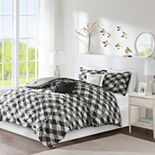 Intelligent Design Charlotte Ruched Gingham Print Comforter Set