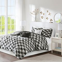 Intelligent Design Charlotte Ruched Gingham Print Comforter Set