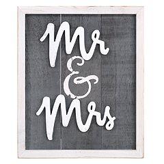 Malden 'Mr. & Mrs.' Wall Decor