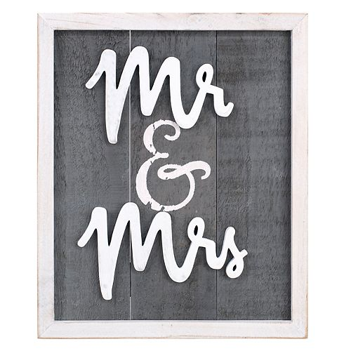 "Malden ""Mr. & Mrs."" Wall Decor"