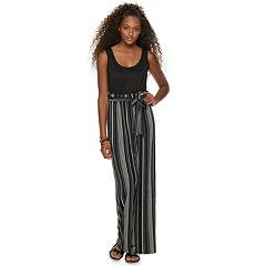 Juniors' AS U WISH Paperbag Waist Jumpsuit