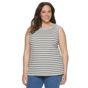 Plus Size Croft & Barrow® Ribbed Essential Tank