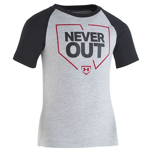 "Boys 4-7 Under Armour ""Never Out"" Raglan Tee"