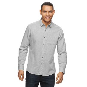 Men's Marc Anthony Regular-Fit Linen-Blend Button Front Shirt