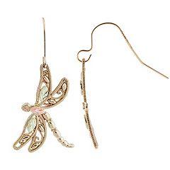 Black Hills Gold Tri-Tone Dragonfly Earrings