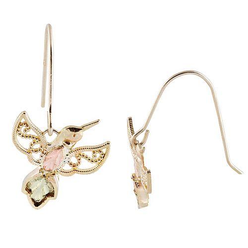 Black Hills Gold Hummingbird Earrings
