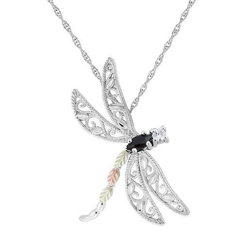 Black Hills Dragonfly Pendant in Sterling Silver