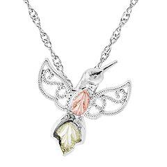 Black Hills Gold Hummingbird Pendant in Sterling Silver