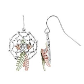 Black Hills Gold Dream Catcher Earrings in Sterling Silver