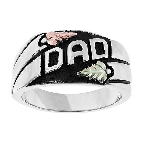 Black Hills Gold Men's Dad Ring in Sterling Silver