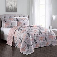 Brigette 2-piece Paris Themed Quilt Set