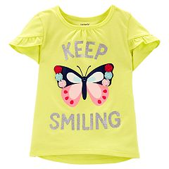 Toddler Girl Carter's Glittery Graphic Tulip-Sleeve Tee