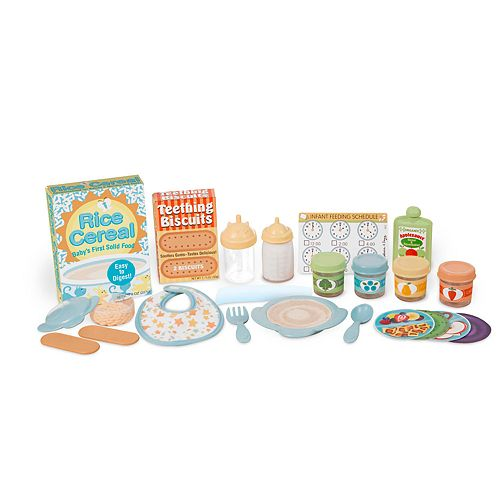 Melissa & Doug Mine to Love 24-Piece Mealtime Play Set for Dolls