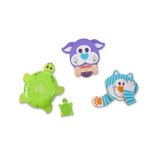 Melissa & Doug First Play Favorite Pets Wooden Grasping Toys Set