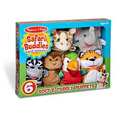 Melissa & Doug Safari Buddies Hand Puppets Set