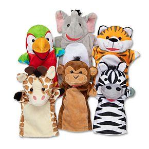 Melissa & Doug Safari Buddies Hand Puppets Set