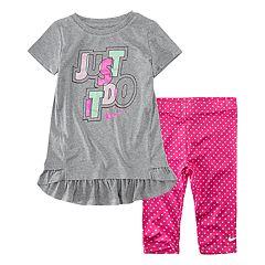 Toddler Girl Nike Dri-FIT 'Just Do It' Tunic & Leggings Set