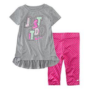 "Toddler Girl Nike Dri-FIT ""Just Do It"" Tunic & Leggings Set"