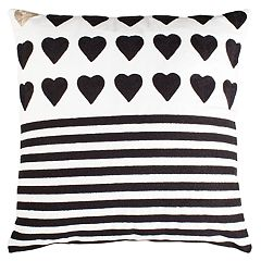 Safavieh Striped Heart Pillow