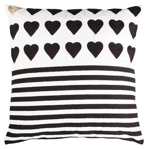 Safavieh Striped Heart Pillow