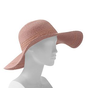 Women's LC Lauren Conrad Metallic Stripe Floppy Hat