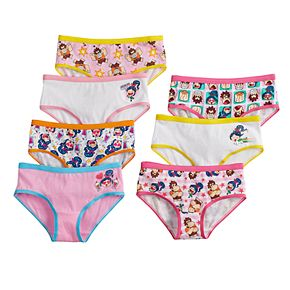 Disney's Wreck it Ralph Girls 4-8 7-pack Brief Panties