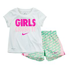 ade502b931d0 Toddler Girl Nike Dri-FIT Tee   Shorts Set