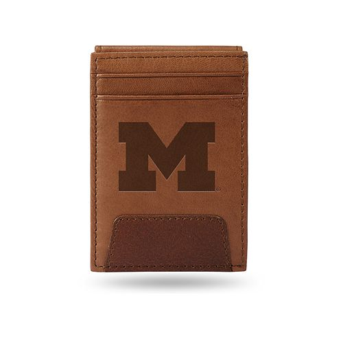 Michigan Wolverines Embossed Slim Leather Wallet