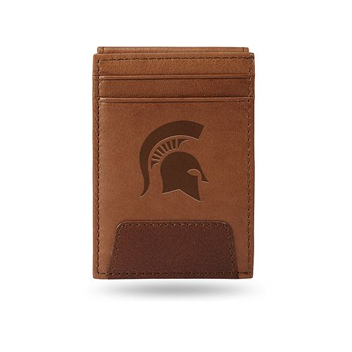 Michigan State Spartans Embossed Slim Leather Wallet