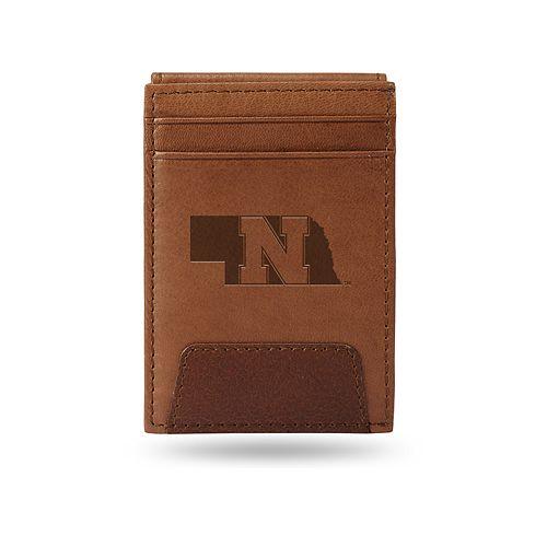 Nebraska Cornhuskers Embossed Slim Leather Wallet
