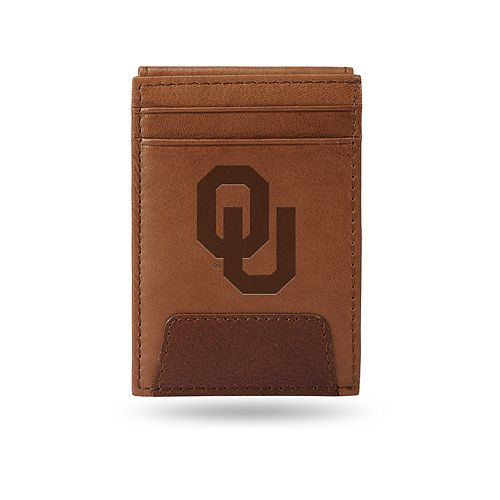 Oklahoma Sooners Embossed Slim Leather Wallet